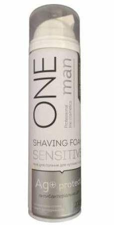 ONEMAN Піна для гоління чутливої шкіри з iонами Ag+ 200мл., фото 2