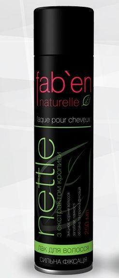 FAB`EN Лак для волосся сильної фиксаці (зелений)