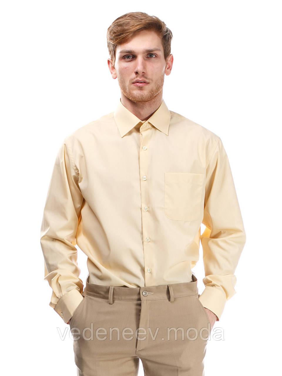 1f77b85006049 Рубашка мужская классического силуэта бежевого цвета - Мужские и женские  РУБАШКИ для ВСЕХ.