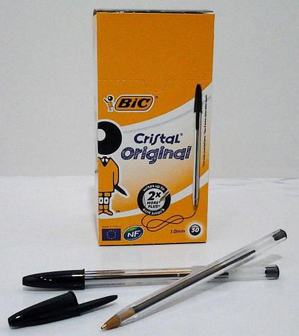 BIC Кулькова ручка Кристал чорна 50шт, фото 2