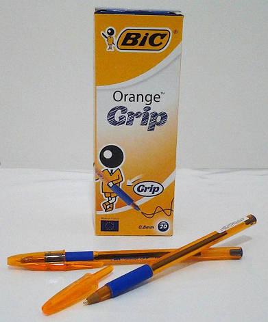 BIC Кулькова ручка Оранж ГРИП синя 20шт, фото 2