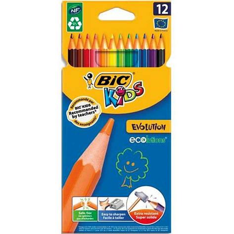 BIC Н-р олівці Кольорові  KIDS Еволюшн 12шт, фото 2