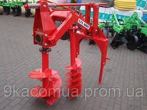 Бур навесной к трактору Wirax - 2 шнека (50 см., 25 см.) (Польша) , фото 2