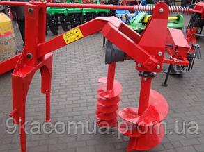 Бур навесной к трактору Wirax - 3 шнека (50 см., 25 см., 18 см) (Польша)