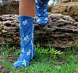 Полусапожки джинс на подкладке на низком ходу. На остатке р.38 с мехом, код 4064О, фото 2