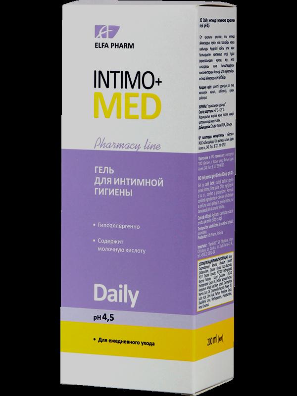 Гель д/інт. гігієни Daily pH 4.5 200мл ФФ НПО Эльфа Intimo+med