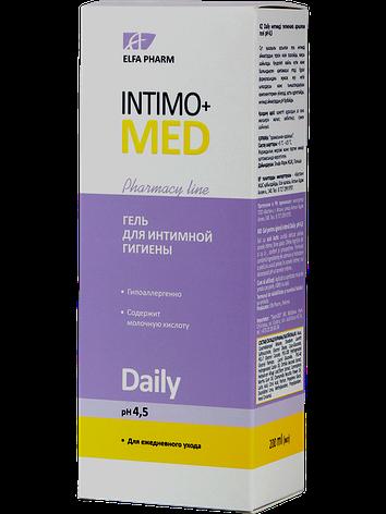 Гель д/інт. гігієни Daily pH 4.5 200мл ФФ НПО Эльфа Intimo+med, фото 2
