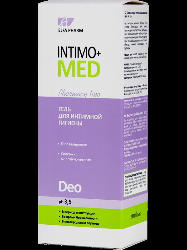 Гель д/інт. гігієни Deo pH 3.5 200мл ФФ НПО Эльфа Intimo+med