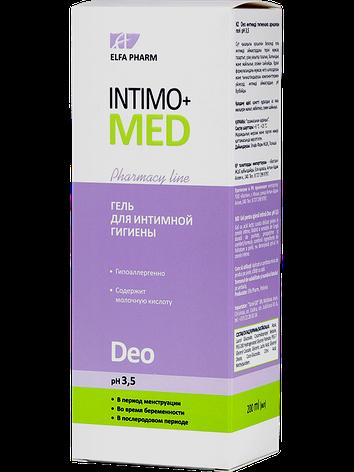 Гель д/інт. гігієни Deo pH 3.5 200мл ФФ НПО Эльфа Intimo+med, фото 2