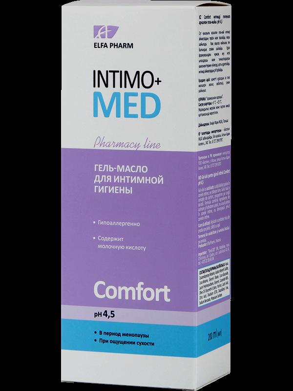 Гель-олія д/інт. гігієни Comfort pH 4.5 200мл  Intimo+med