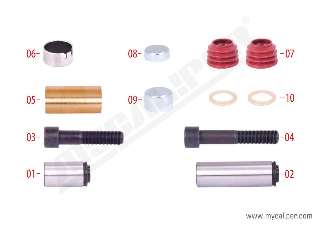 Ремкомплект направляющих суппорта KNORR SN6/7/SK7/NA7/ST7 K004100, K0107
