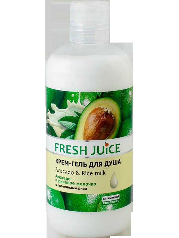 Гель 500  д/душу  Avocado&Rice milk  FJ