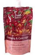 Гель д/душу дой-пак Cranberry&Cane sugar 170мл FJ