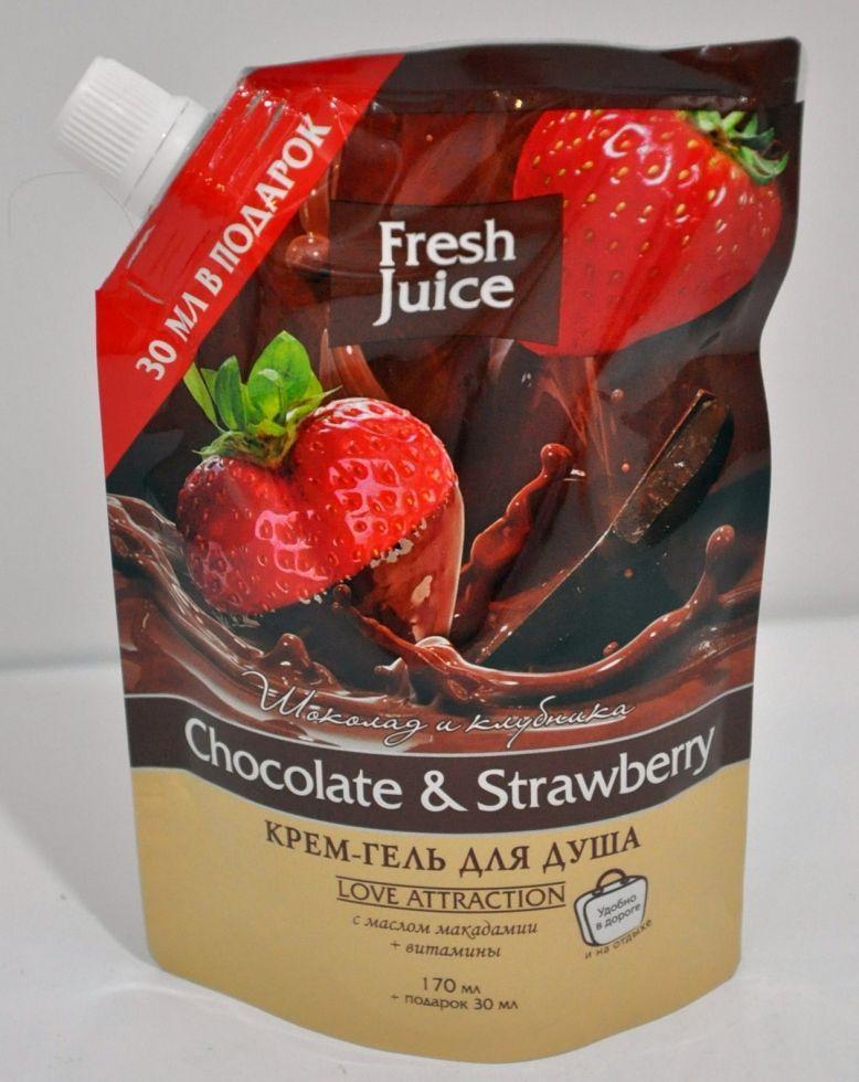 Гель д/душу дой-пак Chocolate&Strawberry