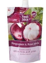Fresh Juice гель для душу дой-пак Mangosteen&Rose petals 170мл