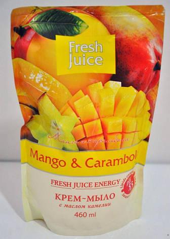 Рідке мило дой-пак Mango камелия 460мл FJ, фото 2