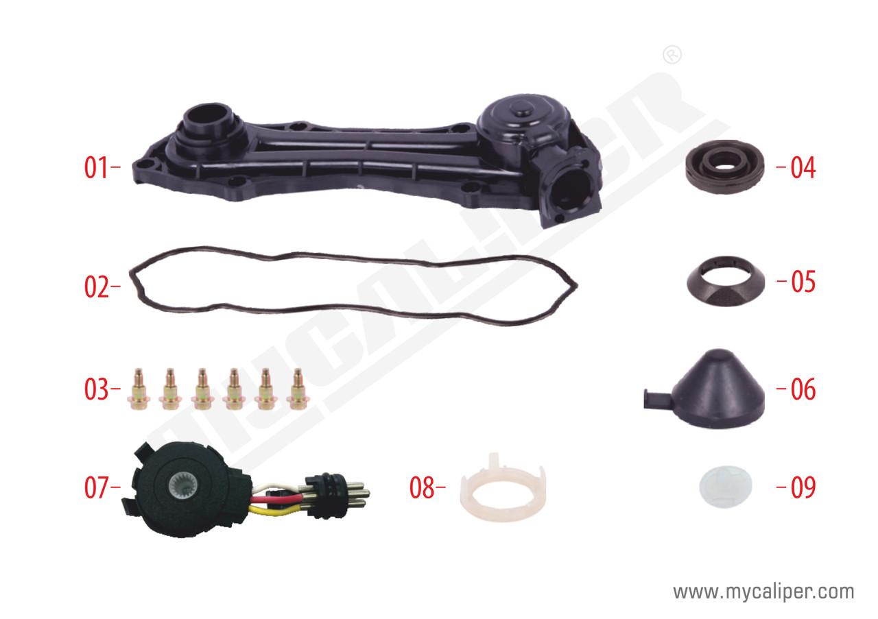 Крышка суппорта KNORR пластик SB6/7 под 3 контакта