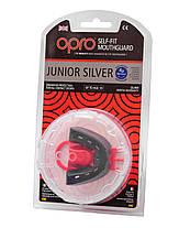 Капа OPRO Junior Silver Black/Red (art.002190001), фото 3