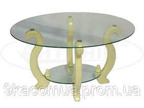 Стеклянный журнальный столик Лидер ДС-3 (прозрачное стекло)