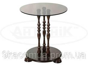 Стеклянный журнальный столик Каприз ДС-1 (прозрачное стекло)