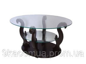 Журнальный столик ДС-2 Шарм (прозрачное стекло)