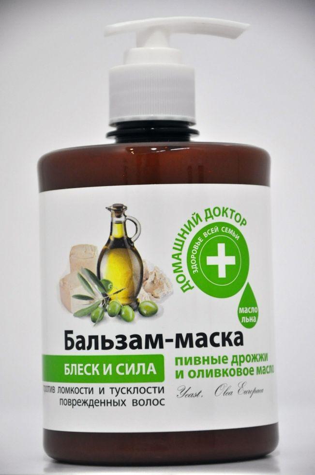 БАЛЬЗАМ  Пивні дріжджі та оливкова олія 500мл ДД