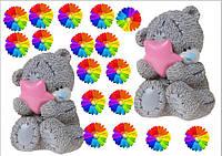 Вафельные картинки Мишки Тедди