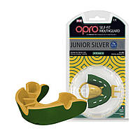 Капа OPRO Junior Silver Green/Gold (art.002190003), фото 1