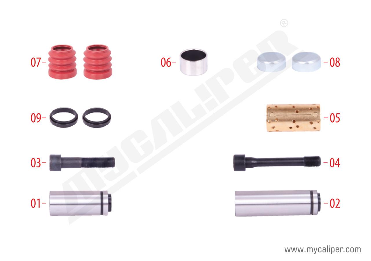 Ремкомплект направляющих суппорта KNORR SB7 81508226026 KN SN50 K001928