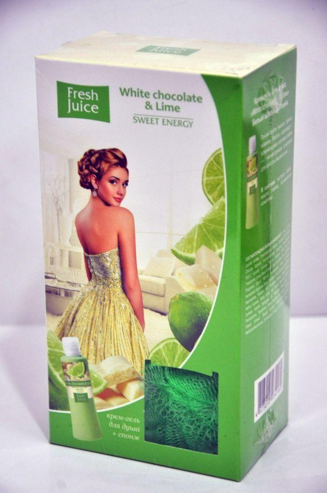 ''FJ'' Набір+спонж  White chocolate&Lime