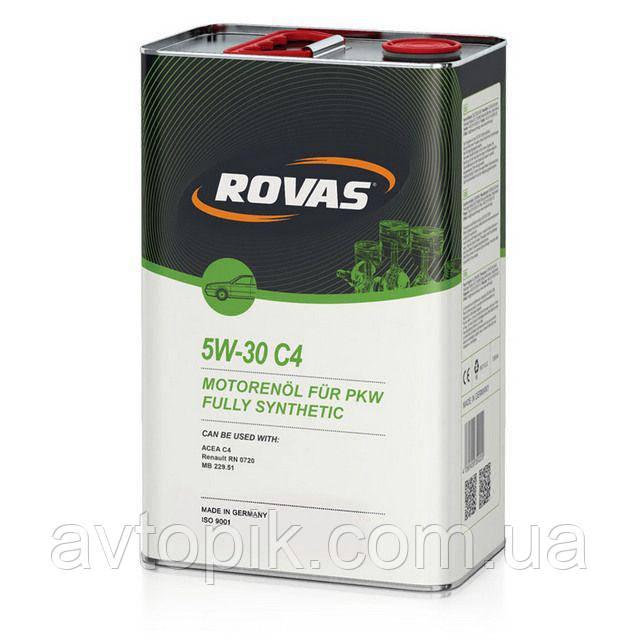 Моторное масло Rovas 5W-30 С4 (1л.)