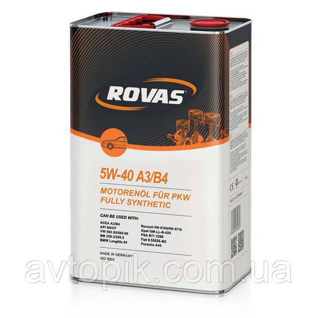 Моторное масло Rovas 5W-40 A3/B4 (1л.)