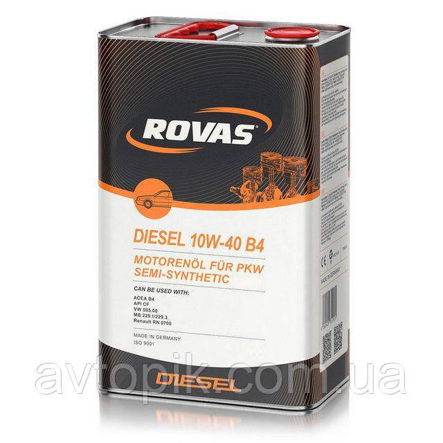 Моторное масло Rovas Diesel 10W-40 B4 (4л.)