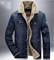 Джинсовая утепленная куртка.Ветровка мужская.Арт.1135