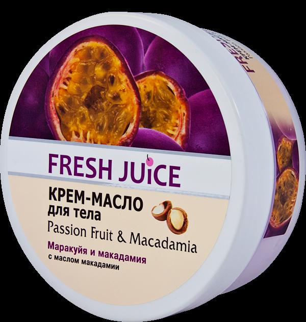 Fresh Juice Крем-масло для тіла Passion Fruit&Macadamia+Гель д/душу дой-пак