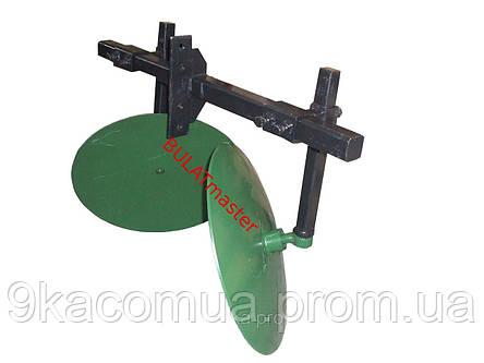 Окучник дисковый для мотоблока на двойной сцепке (ф дисков 450 мм) Агромарка, фото 2