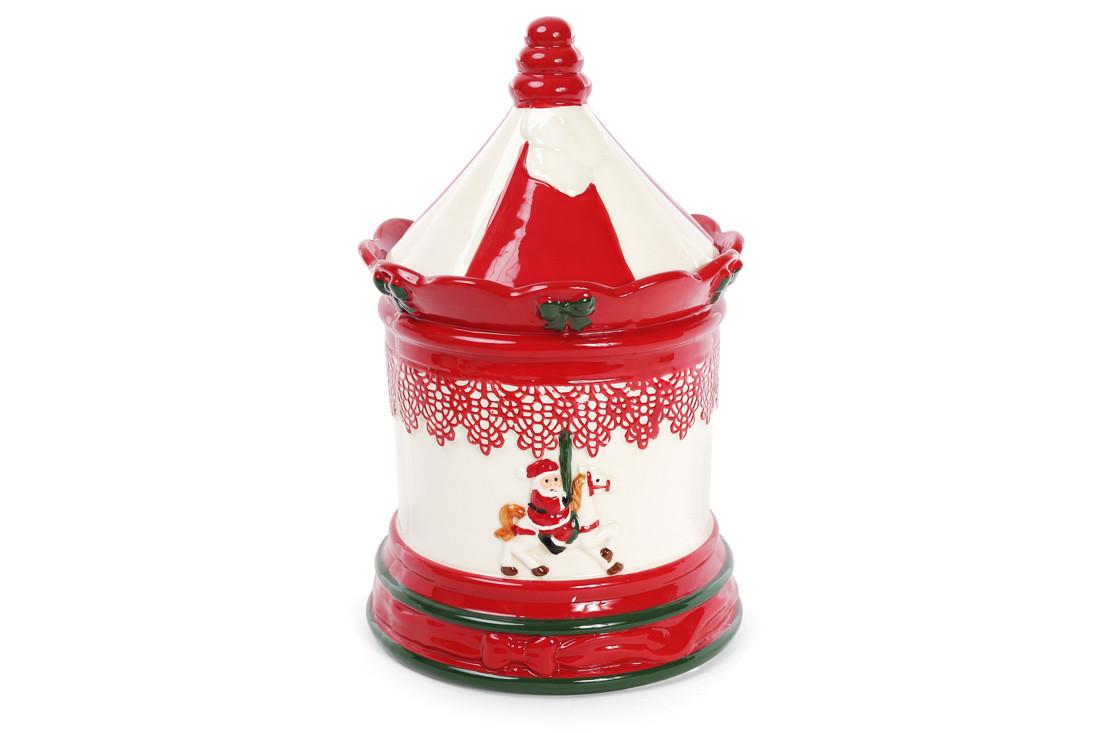 Банка керамическая для хранения сладостей 3.5л Карусель 827-821