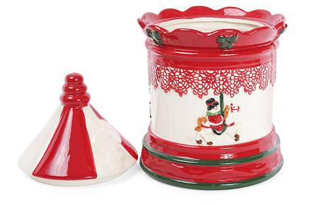 Банка керамическая для хранения сладостей 3.5л Карусель 827-821, фото 2