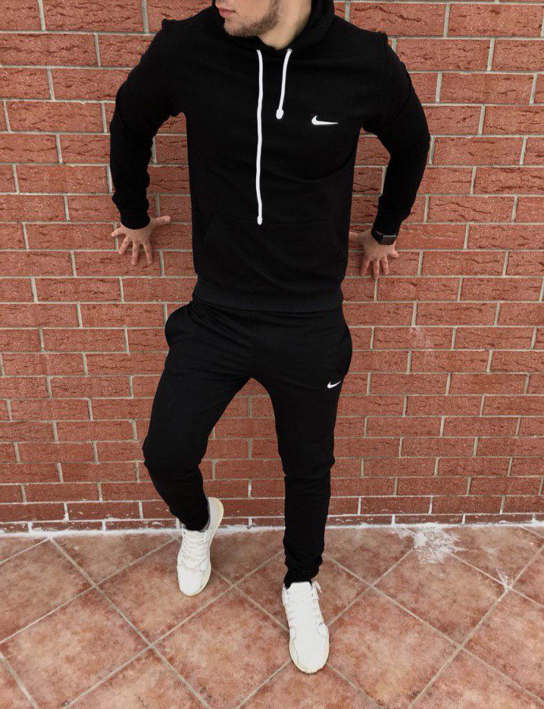 Осенний спортивный костюм Nike black топ реплика