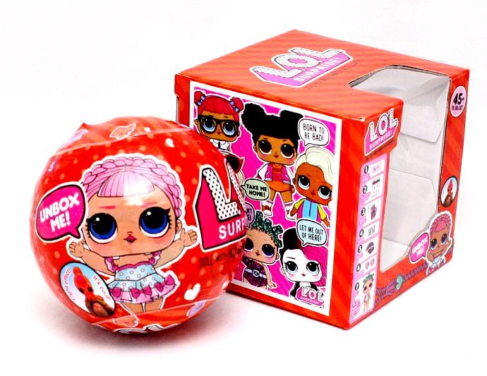 Кукла LOL surprise красный шар, светится,   201861 (240)