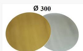 Подложка под торт круг d-30 см h-1мм золото/серебро 3 шт