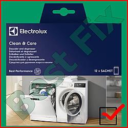 """""""CLEAN & CARE"""" 3 в 1 от Electrolux. Очиститель-антинакипин для стиральной и посудомоечной машины. 12 очисток"""