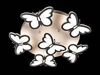 Люстра с пультом БАБОЧКИ 8067/5+1 светодиодная потолочная, фото 1