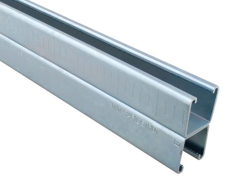 Профиль монтажный перфорированный двойной Walraven 41х21Dх2.5 мм по 6 м