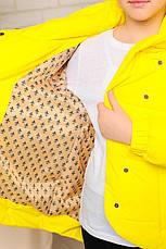 Детская демисезонная куртка на девочку подростка, желтая, р.134-164, фото 3