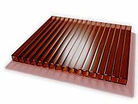 Поликарбонат сотовый бронзовый (коричневый) 4мм Polynex