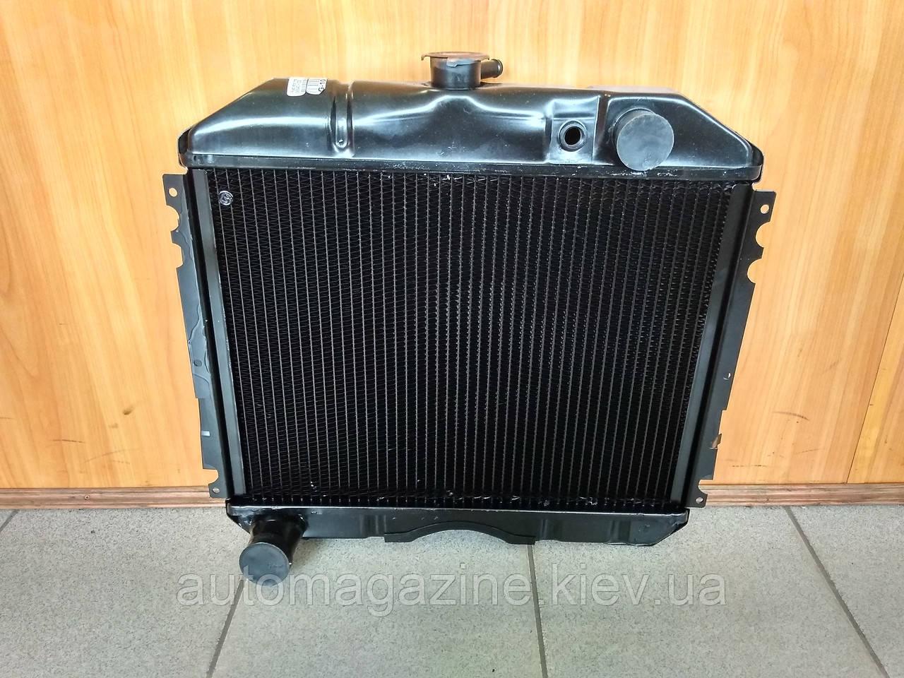 Радіатор охолодження мідний ГАЗ 2410, РАФ (3-х рядний)
