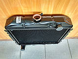 Радіатор охолодження мідний ГАЗ 2410, РАФ (3-х рядний), фото 2