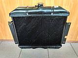 Радіатор охолодження мідний ГАЗ 2410, РАФ (3-х рядний), фото 3
