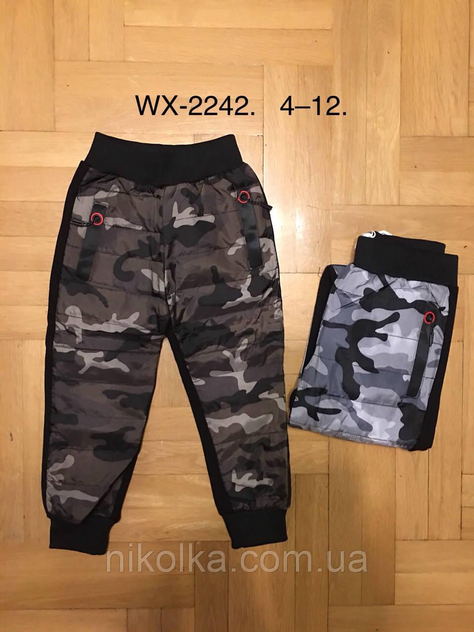 bdc9cc26057e Спортивные брюки на меху для мальчиков оптом, F D, 4-12 лет., арт. WX-2242